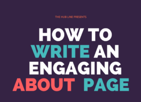 write an engaging about page